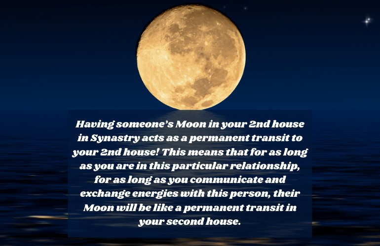 Moon in 2nd House Synastry