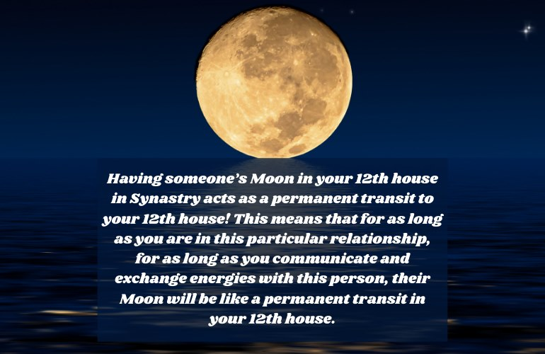 Moon in 12th House Synastry
