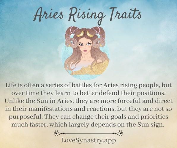 aries rising traits