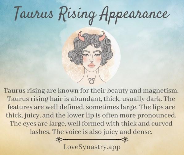 taurus rising appearance