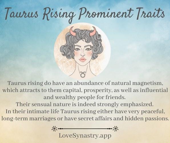 taurus rising traits